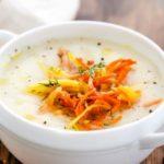 Картофельный суп на бульоне