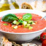 Томатный суп с авокадо