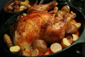 Как приготовить курицу с яблоками